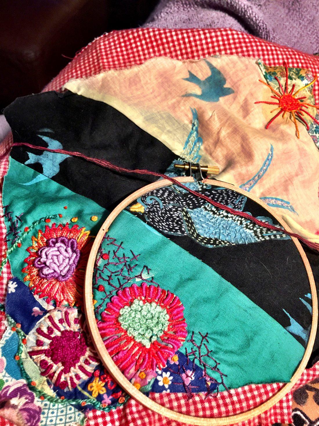 Stitching with Kristin