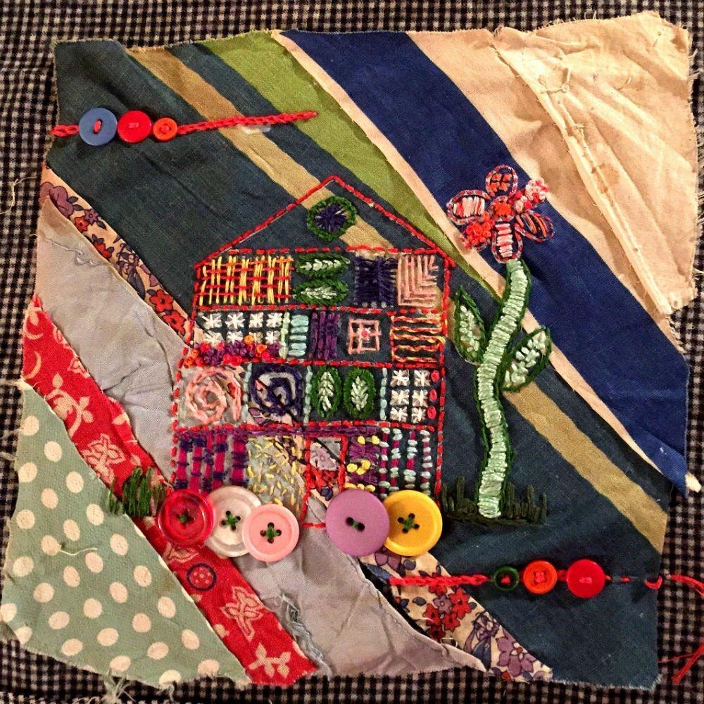 Salvaged \u0026 Stitched Vintage Quilt Squares
