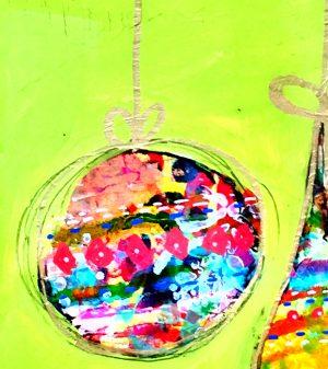 mixed media ornament