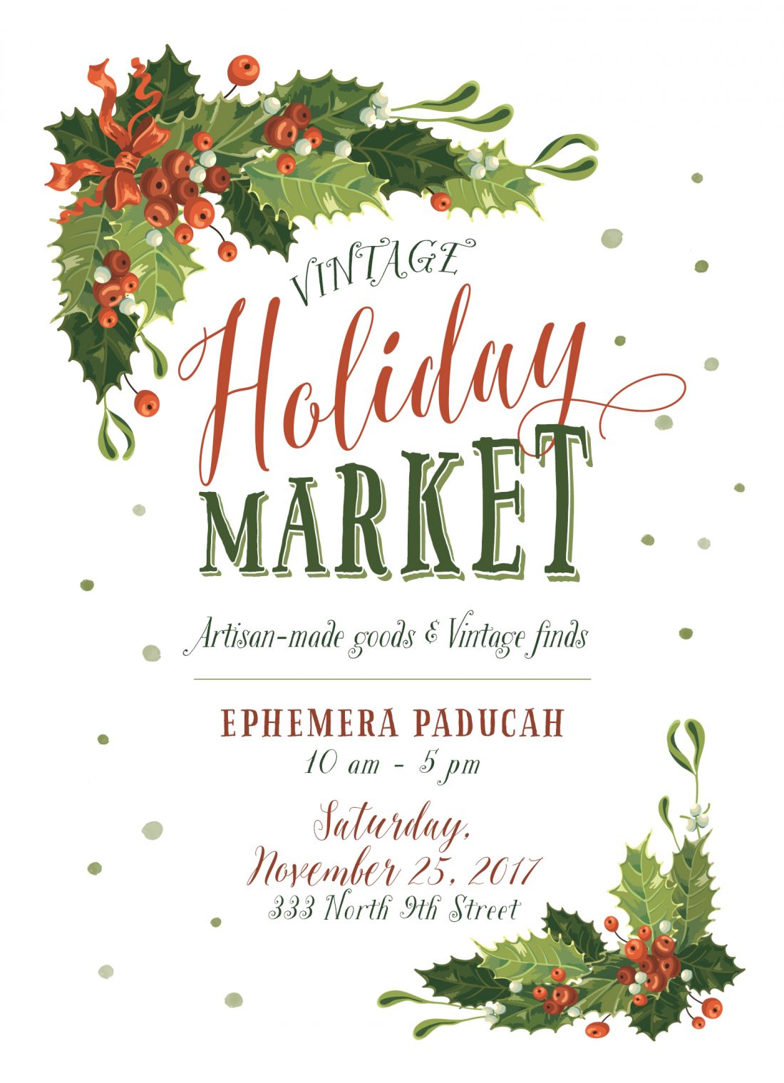 Vintage Holiday Market November 25, 2017