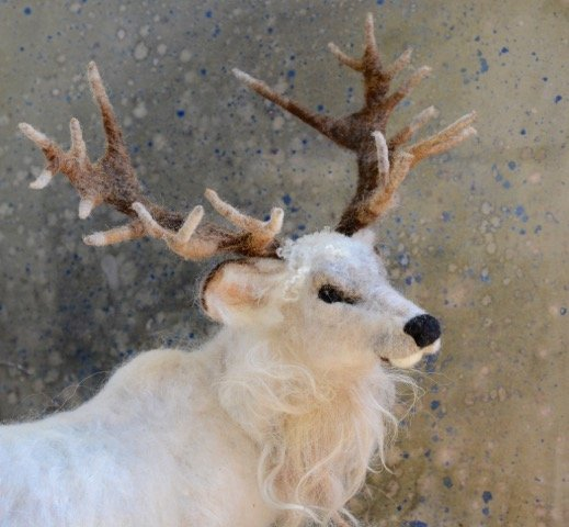Needle felted Stag