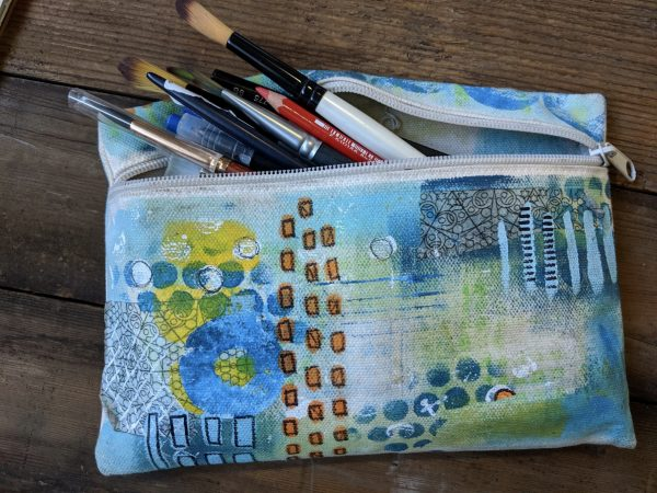 canvas zippered bag