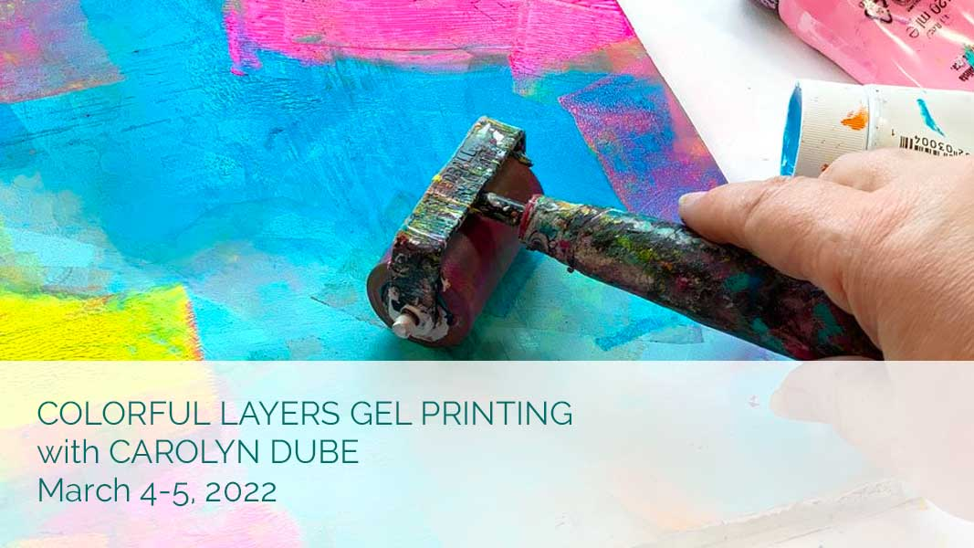 Colorful Layers Gel Printing